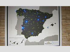 Mapa de la red de Paradores de España