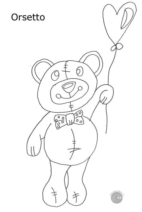 ste da colorare gratis per bambini disegno di un tenero orsetto disegni mammafelice