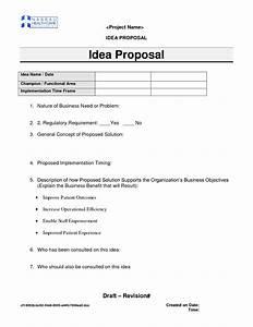 Best photos of idea proposal template business idea for Business idea template for proposal