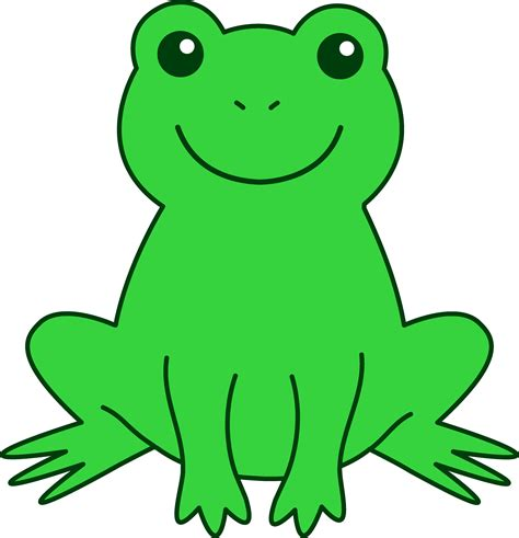 Frogs Clipart Happy Green Frog Free Clip
