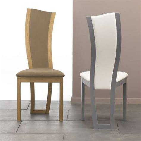 chaises salle à manger en bois chaise de salle à manger contemporaine en tissu et bois massif xéna 4 pieds tables