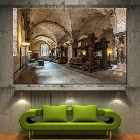 home decor wall posters wall canvas print wine winery cellar barrels