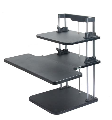 adjustable sit stand desk height width adjustable computer laptop standing desk