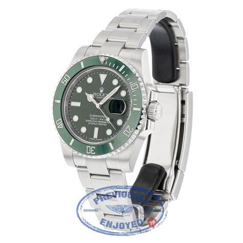 Rolex Submariner Stainless Steel Green Ceramic Bezel and ...
