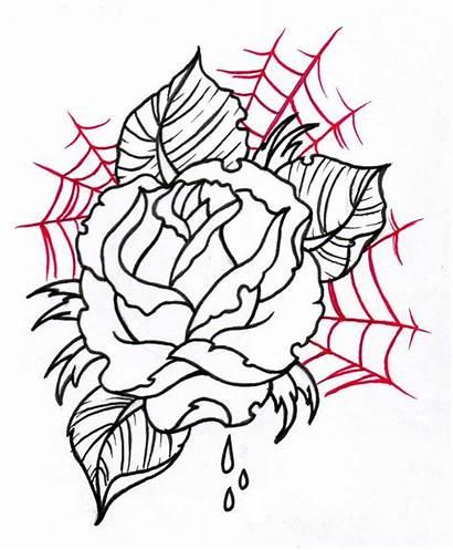 Tattoo Flower Rose Web Samples Outline Designs