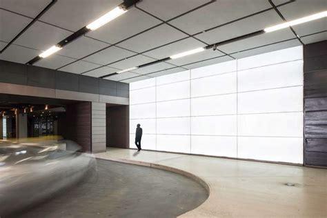 backlit recycled glass walls masdar city gpi design