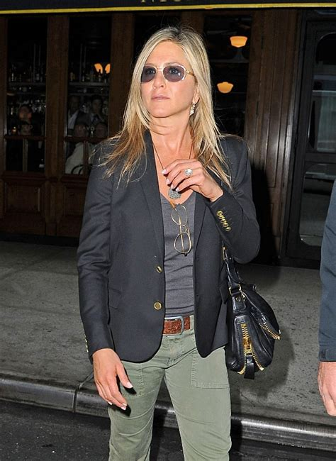 jennifer aniston  suede grey dress  living proof web