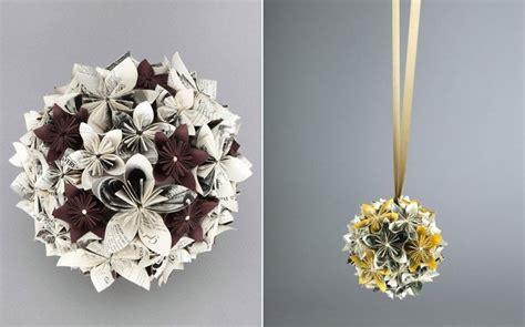 Paper-flower-pomander-diy-wedding-bouquet-newspaper