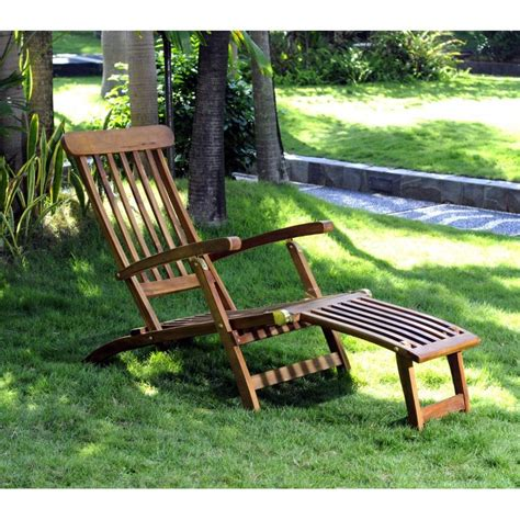 chaise longue teck chaise longeu en teck transat de jardin
