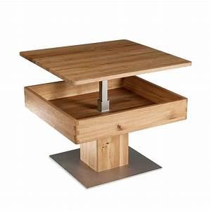 Couchtisch Holz Höhenverstellbar : massivholz couchtisch flanzios h henverstellbar ~ Whattoseeinmadrid.com Haus und Dekorationen