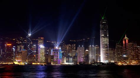 hong kong victoria harbour  city  night night