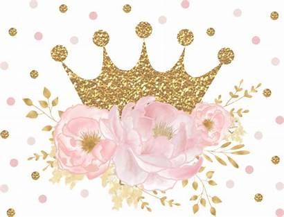 Crown Blush Floral Princess Royal Zazzle Paper