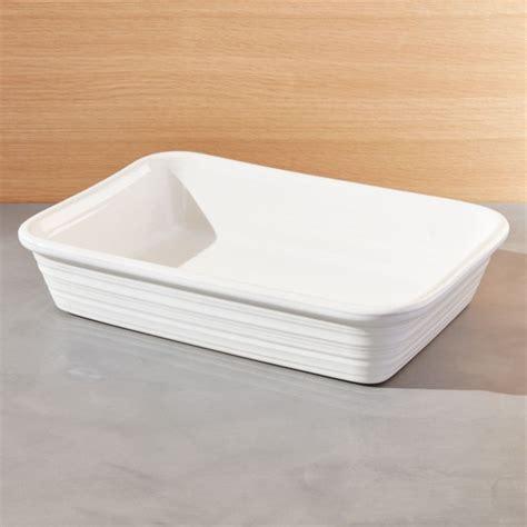 Farmhouse Rectangular Baking Dish   Reviews   Crate and Barrel