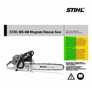 Stihl Ms 460 Magnum Rescue Saw Owners Manual