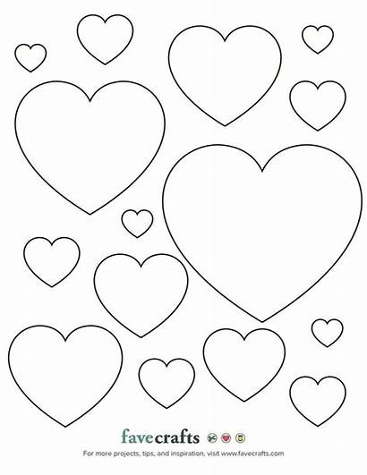 Hearts Printable Template Heart Favecrafts Coloring Printables