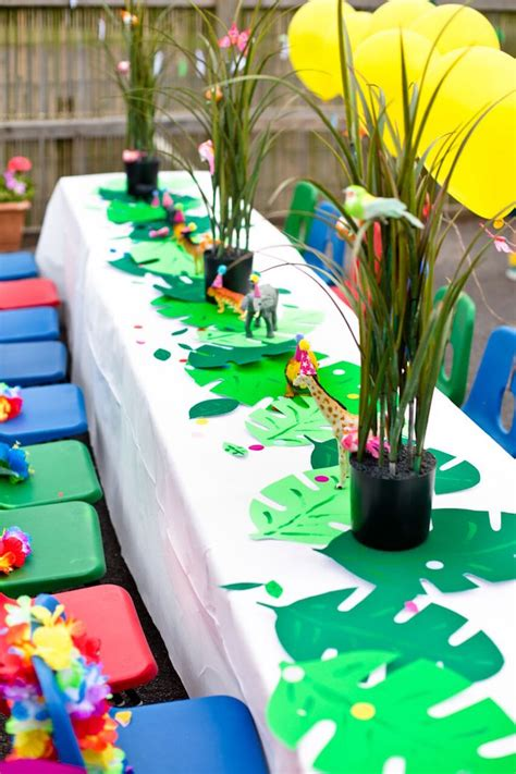 karas party ideas tropical rainforest jungle animal