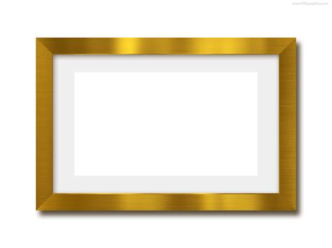 frame template gold photo frame psd template psdgraphics