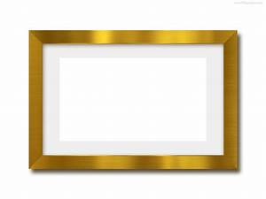 picture frame templates for photoshop - gold photo frame psd template psdgraphics