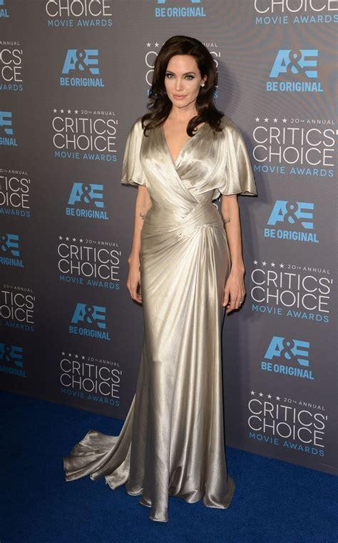 dressed critics choice awards  angelina jolie