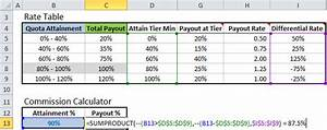 excel formula to calculate commissions with tiered rate With commission payout template