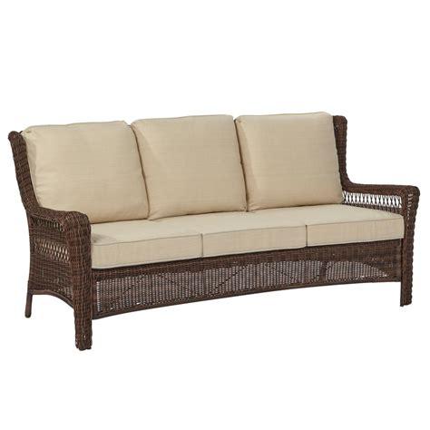sofa springs home depot wicker outdoor sofa hton bay spring haven 30 in brown