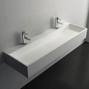 Vasque Salle De Bain Ikea : plan vasque salle de bain suspendu 120x40 cm mineral ~ Teatrodelosmanantiales.com Idées de Décoration