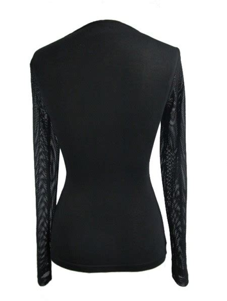 Devil Fashion Black Sexy Gothic Net Corset Top Shirt for ...
