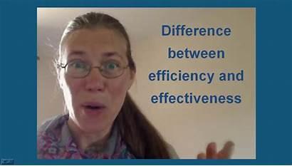 Efficiency Effectiveness Difference Between