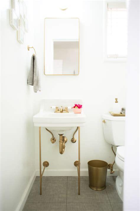 diy gold sink legs lovely