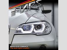 Crystal Clear LED DRL projector Head Lights for BMW X