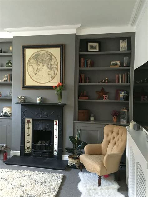 brilliant built  shelves ideas  living room  amzhousecom