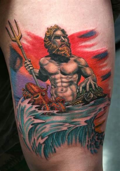 Tattoo Poseidon Tattoos Shellback Greek Brogan Larry
