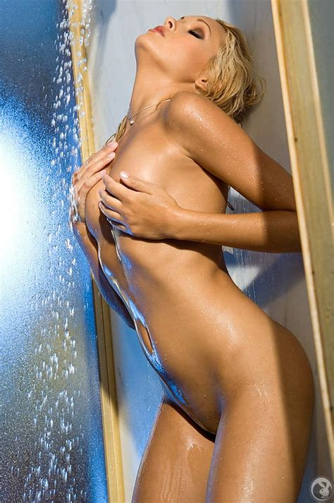 Holley Ann Dorrough Caressing Her Sexy Body In The Shower Playboy Plus