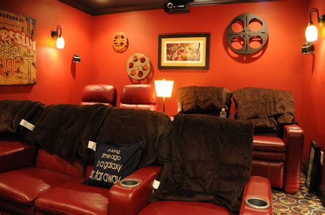home theater room decorating ideas  polkadot chair