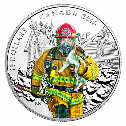 Firefighter Coin Heroes Silver National Canadian Mint