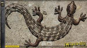 Décoration Murale En Fer : d coration murale en fer forg l zard ~ Teatrodelosmanantiales.com Idées de Décoration