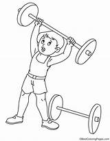 Coloring Weightlifting Weight Lifting Template sketch template
