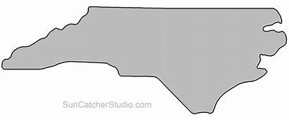 Carolina Outline North State Clip Map Silhouette