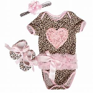 2017 Fashion Newborn Baby girl clothes sets Pink Love Printed Infant clothes Romper dress 3pcs ...