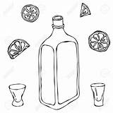 Whiskey Bottle Drawing Getdrawings Sketch Glass sketch template