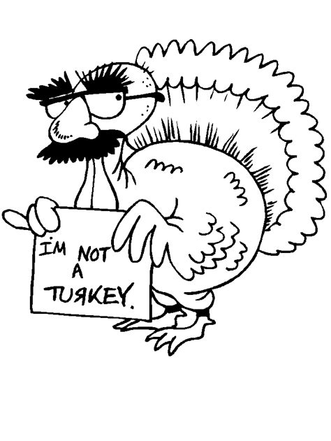 Printable Turkeys 7 Animals Coloring Pages