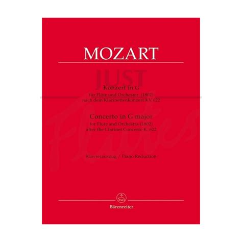 Wolfgang Amadeus Mozart Concerto For Clarinet Arranged