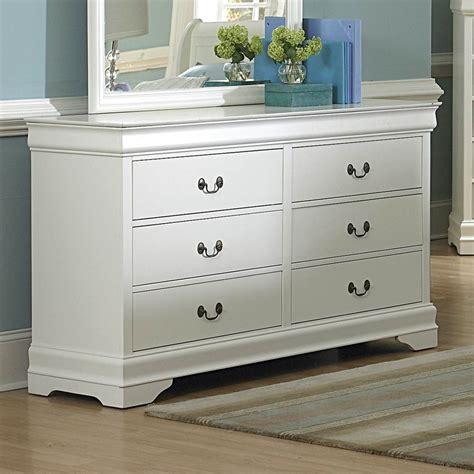 White Dresser by Shop Homelegance Marianne White 6 Drawer Dresser At Lowes
