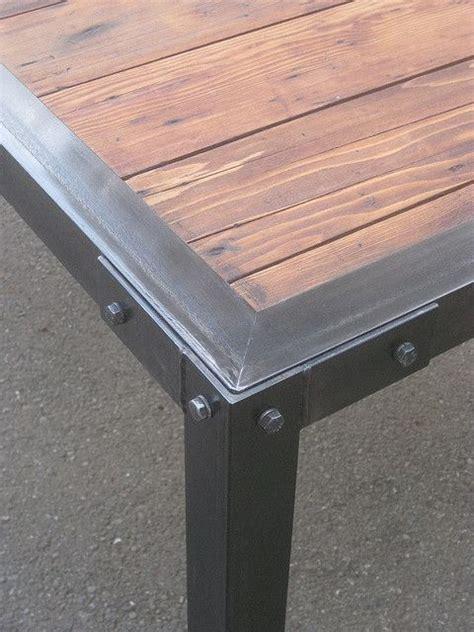 slat dining closeup wood insert patio table  metals