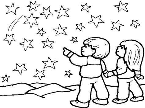 Night Sky Coloring Page At Getcolorings.com