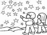 Sky Night Coloring Sun Drawing Pages Fireworks Printable Getcolorings Preschool Getdrawings sketch template