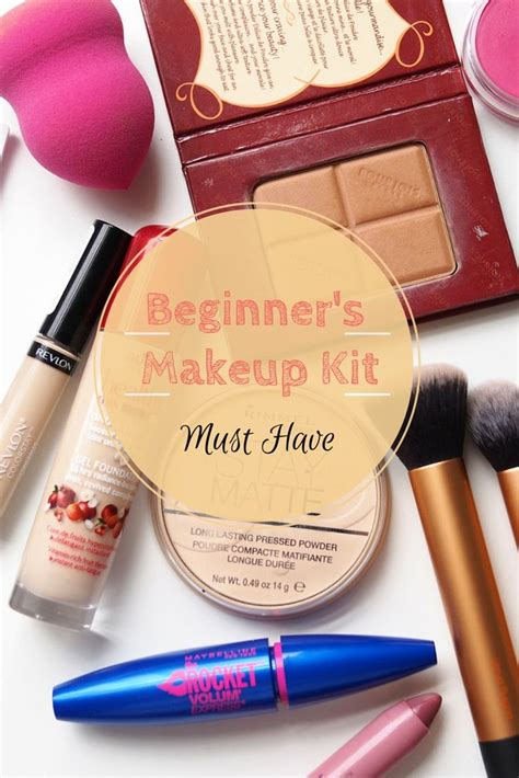 Beginners Makeup Kit Must Have Foundation Compact Loose Powder Blusher Eye Liner Kajal