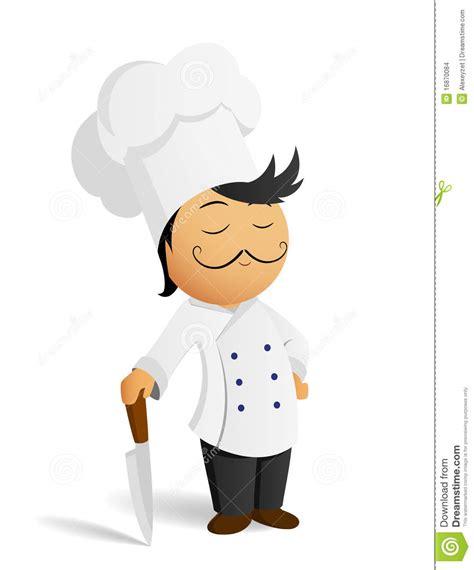dessin animé de cuisine cuisinier de chef de dessin animé dans le chapeau blanc