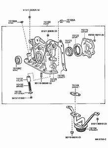 Toyota Corolla Pump Assembly  Oil  Engine