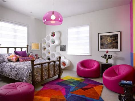 cool teen bedroom ideas that will your mind 35 cool teen bedroom ideas that will blow your mind 35 | Teen girls bedroom with fun colours and futuristic wall cabinet
